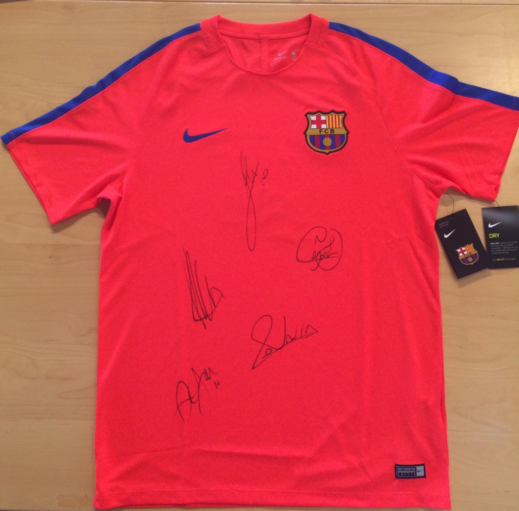 Official FCB Jersey signed players - Rush Camp